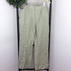MAG Olive Green Linen Trousers